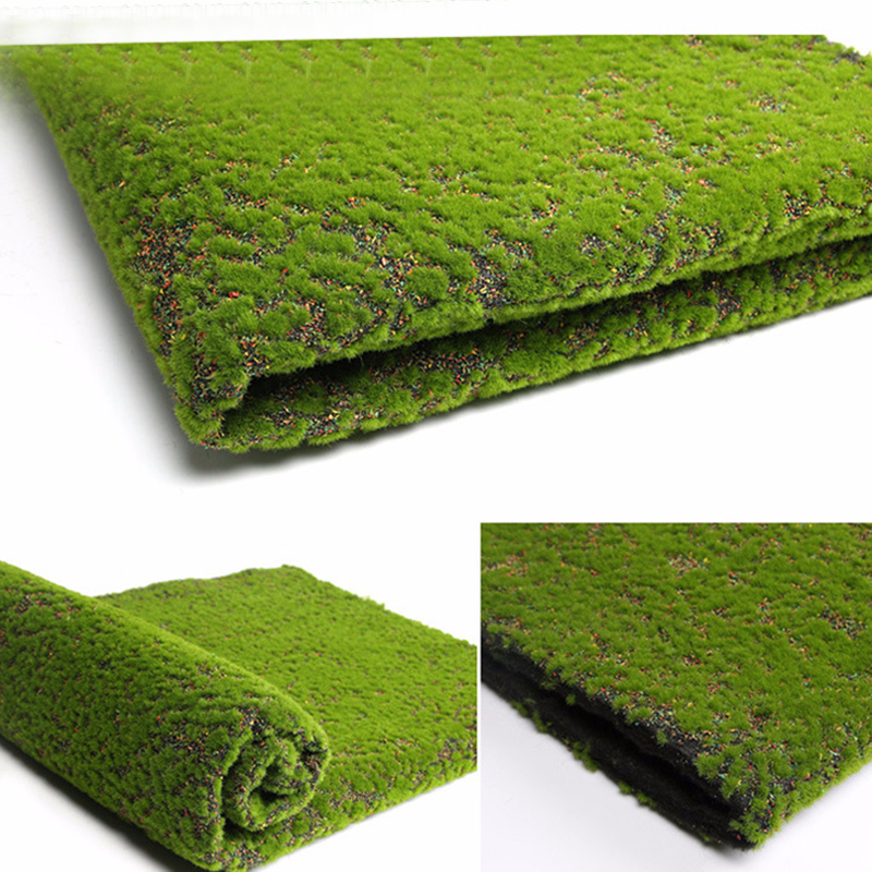 Artificial Moss Fake Green Plants Faux Moss Grass For Shop Home Patio Decoration Garden Wall Living Room Decor Supplies100*100cm