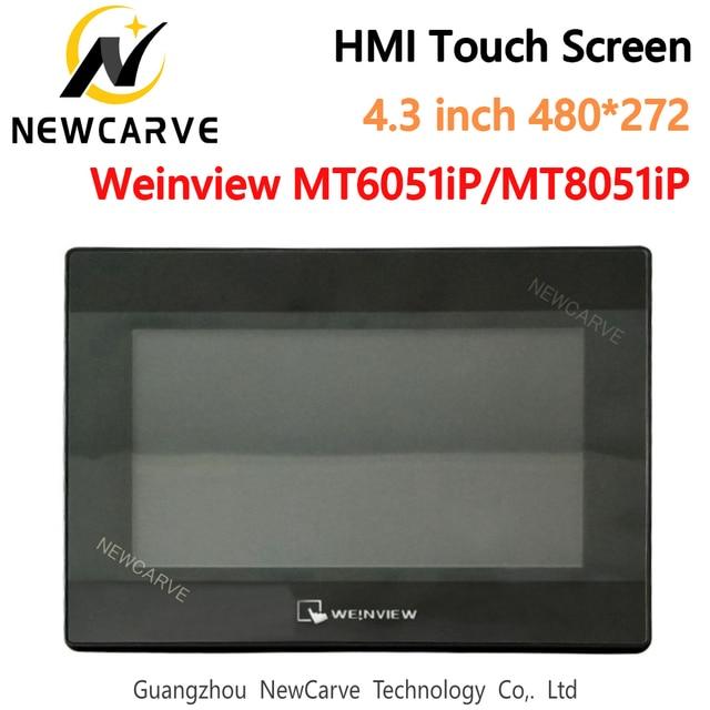 Tela de toque weinview/weintek mt6051ip mt8051ip 4.3 Polegada 480*272 nova interface da máquina humana