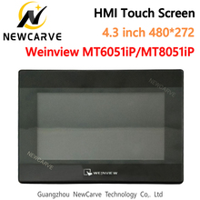 USB Ethernet HMI Touch Screen WEINVIEW/WEINTEK MT6051iP MT8051iP 4.3 Inch 480*272 New Human Machine Interface Display NEWCARVE