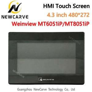 Image 1 - USB 이더넷 HMI 터치 스크린 WEINVIEW/WEINTEK MT6051iP MT8051iP 4.3 인치 480*272 새로운 인간 기계 인터페이스 디스플레이 NEWCARVE