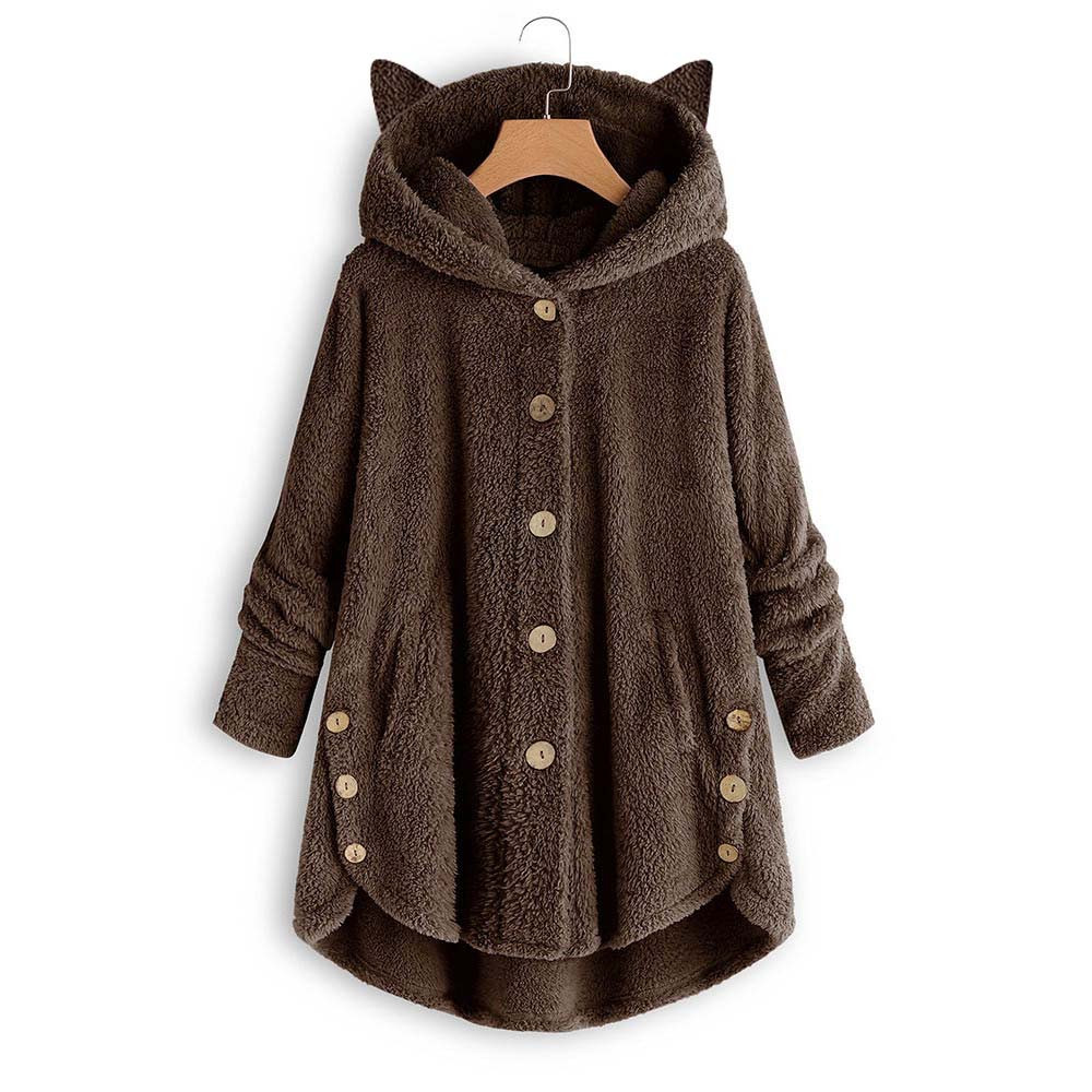 H3c8a8b8e8a7f4770ab9484a6887719dc2 Women Flannel Coat Pockets Solid fleece Tops Hooded Pullover Loose Hoodies Plus Size Cat Ear Cute Womens Warm Sweatshirt 2019