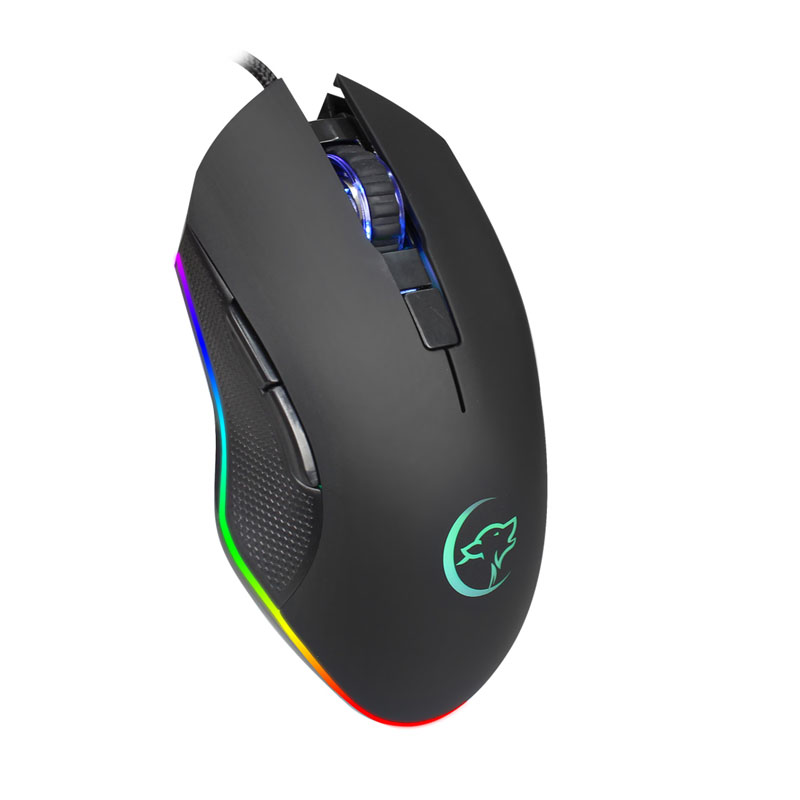 G812 Game Optical Wired Mouse Colorful Breathing Light Professional Gaming Mouse EM88