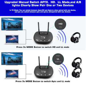 Image 5 - 3 In 1 Bluetooth 5.0 Transmitter Receiver Long Range 3.5mm Wireless Audio Adapter for TV Headphone aptX LL/HD Low Latency RCA