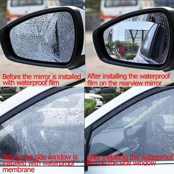 Lusterko samochodowe okno przezroczysta folia przeciwmgielna naklejka na samochodowe lusterko wsteczne folia ochronna wodoodporna naklejka samochodowa 2 sztuk zestaw tanie i dobre opinie Klej naklejki 10cm 0 2cm 20cm Protective film Zmiana koloru Inne Nie pakowane