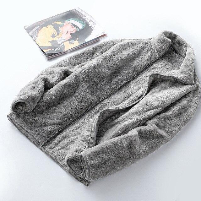 New Winter Wool Fleece Jacket Women Thick Cardigan Sweater Thermal Windproof Spring Windbreaker Female Hooded Warmer Coat M-4XL 5