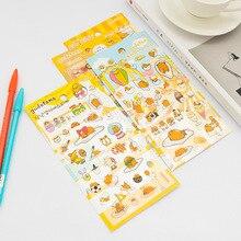 Забавный мультфильм яичный желток ПВХ пуля журнал Декоративные Канцелярские наклейки Скрапбукинг DIY дневник альбом палка этикетка