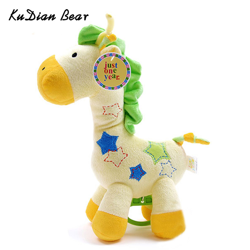 KUDIANBEAR Baby Cute Giraffe Rattle Cartoon Plush Rattles For Baby Newborn Stuffed Toys Musical Bell For Child BC007 RP49