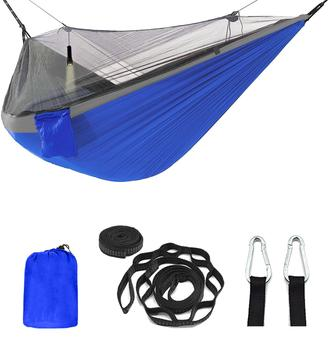 цена на Outdoor Mosquito net camping Hammock 1-2 Person Parachute picnic Hammock Portable Hanging Hunting Sleeping hammock Swing hammock