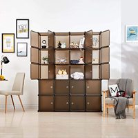 Plastic Wardrobe Cabinet Organizer Portable Clothing Storage Cabine Cloth Closet Home Furniture for Clothes Shoes Toys