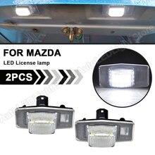 2xled luz da placa de licença conduziu a lâmpada da placa de número nenhum erro para mazda protege mpv tributo miata mx5 mk2 ford fuga mercúrio mariner