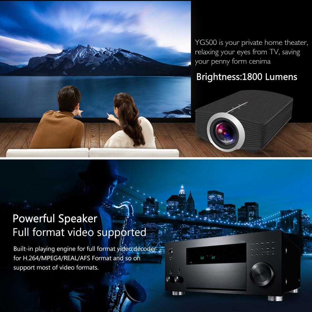 Image 5 - ThundeaL YG500 YG510 Gm80a Mini Projector 1800 Lumens LED LCD VGA HDMI AC3 Beamer Support 1080P YG500A 3D Portable Projector-in LCD Projectors from Consumer Electronics