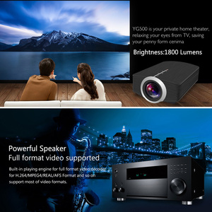 Image 5 - ThundeaL YG500 YG510 Gm80a Mini Projector 1800 Lumens LED LCD VGA HDMI LED Beamer Support 1080P YG500A 3D Portable Projector