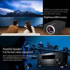 Image 5 - Thundeal yg500 yg510 gm80a mini projetor 1800 lumens led lcd vga hdmi led beamer suporte 1080 p yg500a 3d projetor portátil