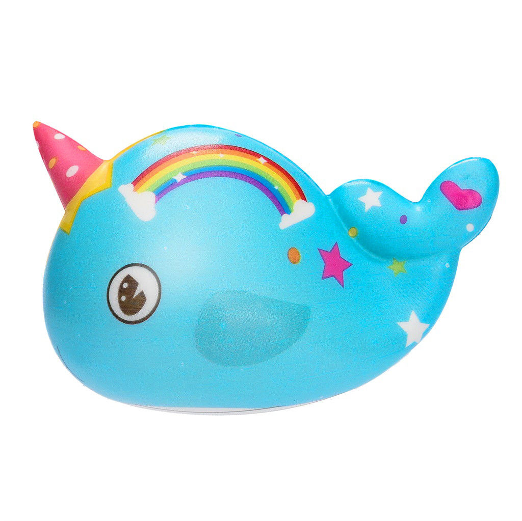 2020 New Hot Rainbow Narwhal Squishy 11CM Slow Rising Cream Scented Antisress Squeeze Toy Stress Relief Toys Gifts