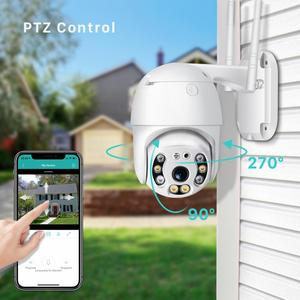 Image 3 - 1080P PTZ IP Kamera Outdoor 4X Digital Zoom Speed Dome WiFi Kamera 2MP Audio AI Menschlichen Erkennung Super Mini home Security Kamera