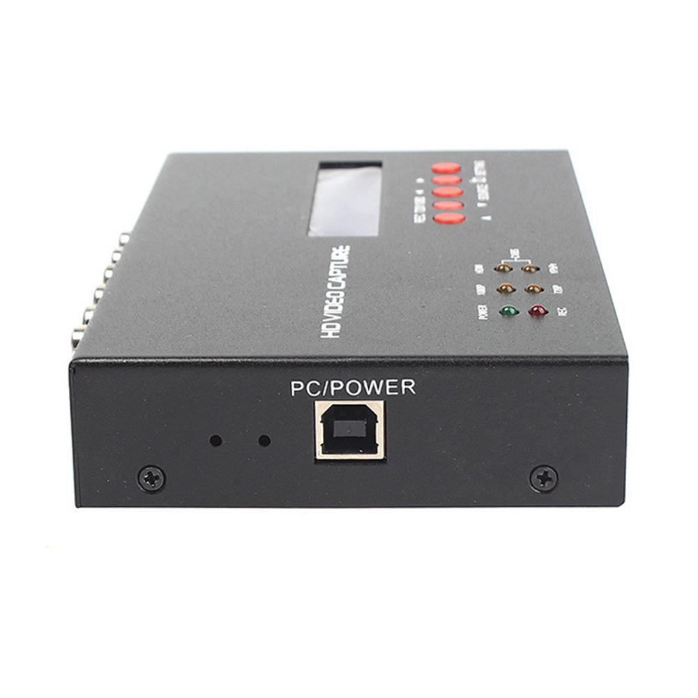 YY 283S Schwarz Converter Video Capture Box 1080P HDMI TV Aufnahme Karte ABS Durable Spiel Mikrofon Eingang Mit Fernbedienung - 6