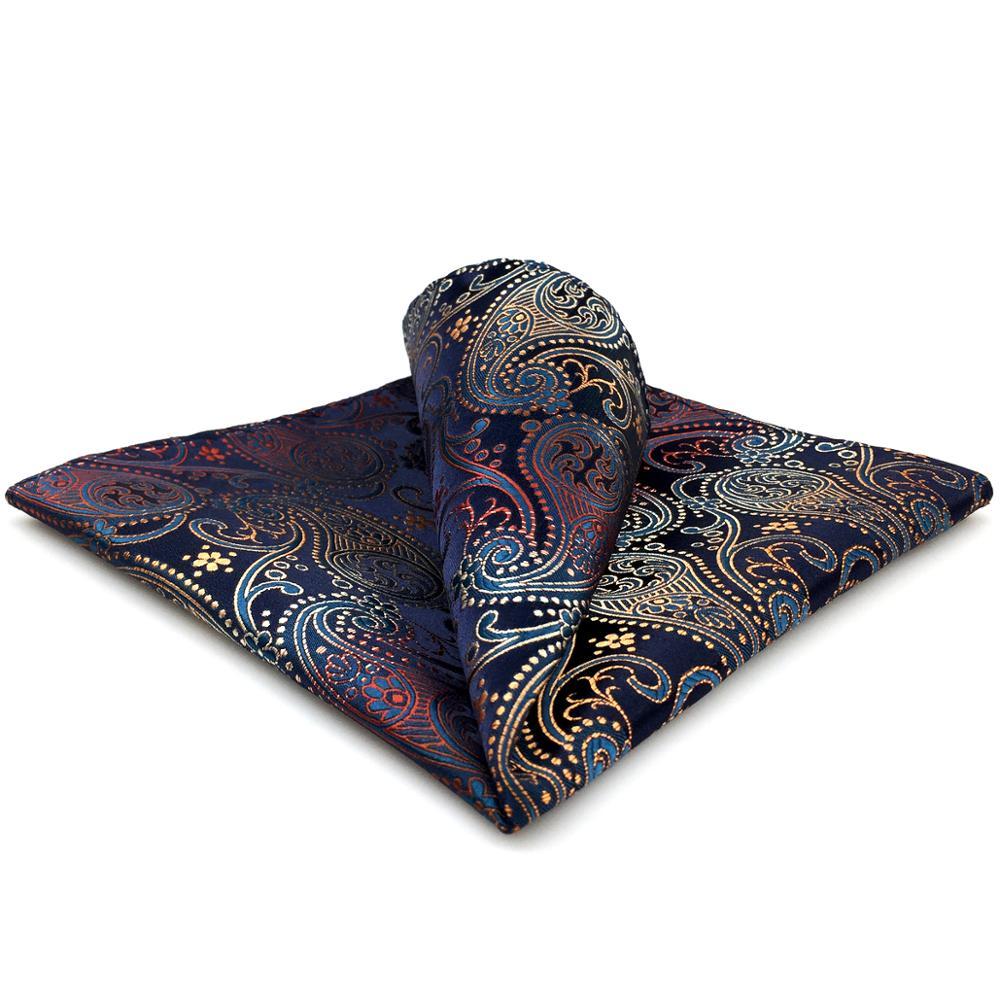 BH26 Multicolor Paisley Mens Pocket Square Wedding Handkerchief Silk