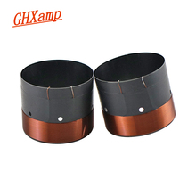"""GHXAMP 63.5MM BASS Voice coil SubWoofer 8OHM Balck Aluminum Sound Air Outlet Hole For 12"""" 15"""" inch Speaker repairss DIY 1Pairs"""