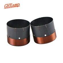 """GHXAMP 63.5MM basse voix bobine SubWoofer 8OHM noir aluminium son sortie dair trou pour 12 """"15"""" pouces haut parleur réparation bricolage 1 paires"""