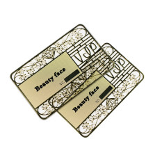 Silk Screen 0.4mmThickness Laser Cut Anodized Customized Metal Business Metallic Membership VIP Card
