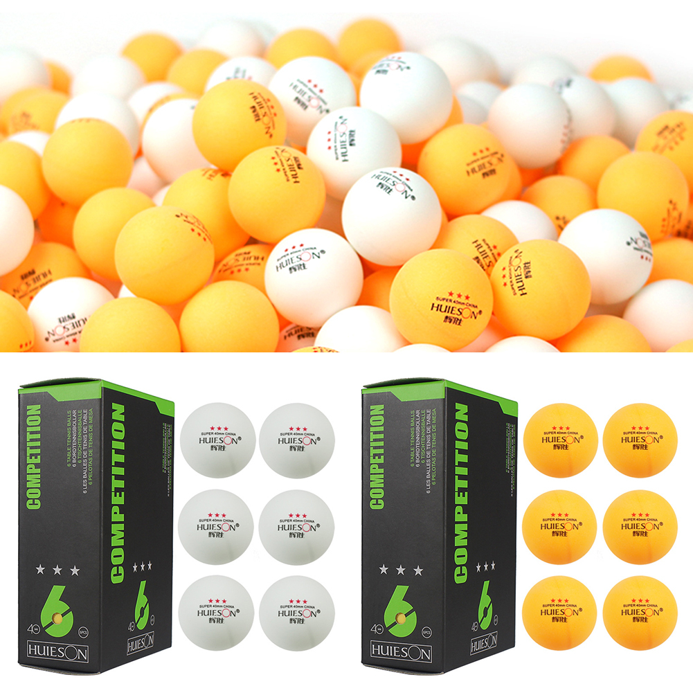 6pcs 3 Star Ping Pong Balls 40mm/1.57in In Diameter 2.9g Table Tennis Ball For Competition Training