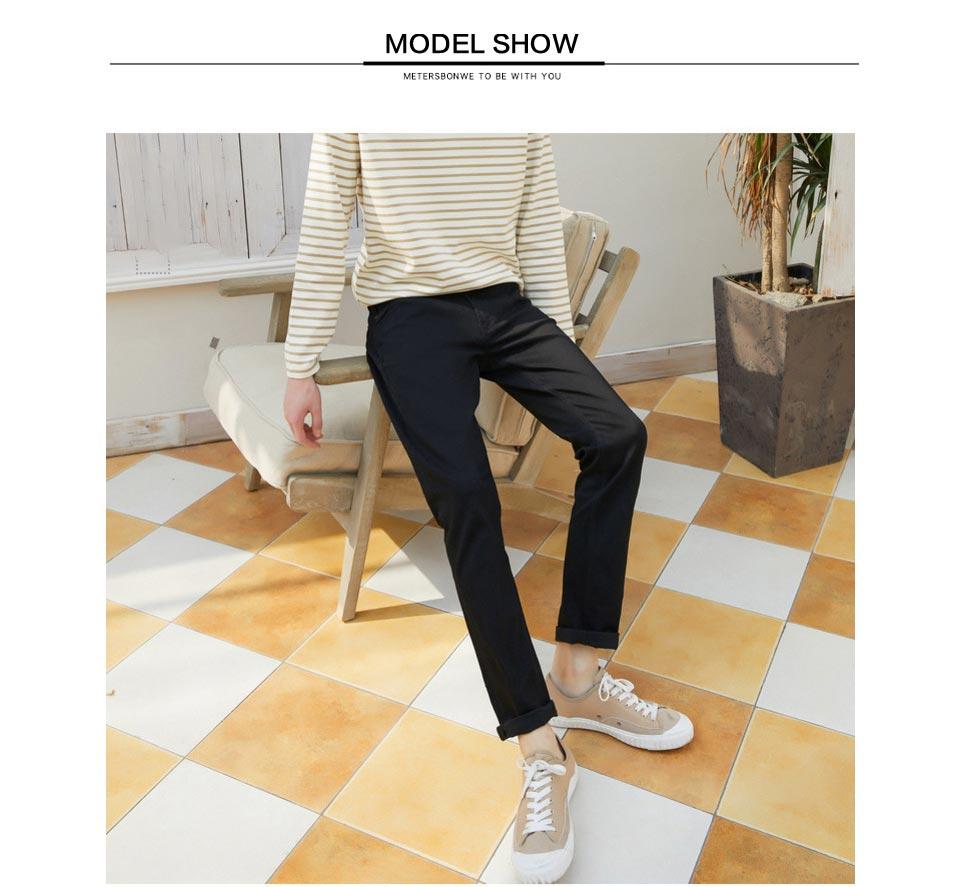 Metersbonwe прямые джинсы мужские Весна Осень Новые повседневные Молодежные трендовые тонкие джинсы мужские s брюки мужские брюки