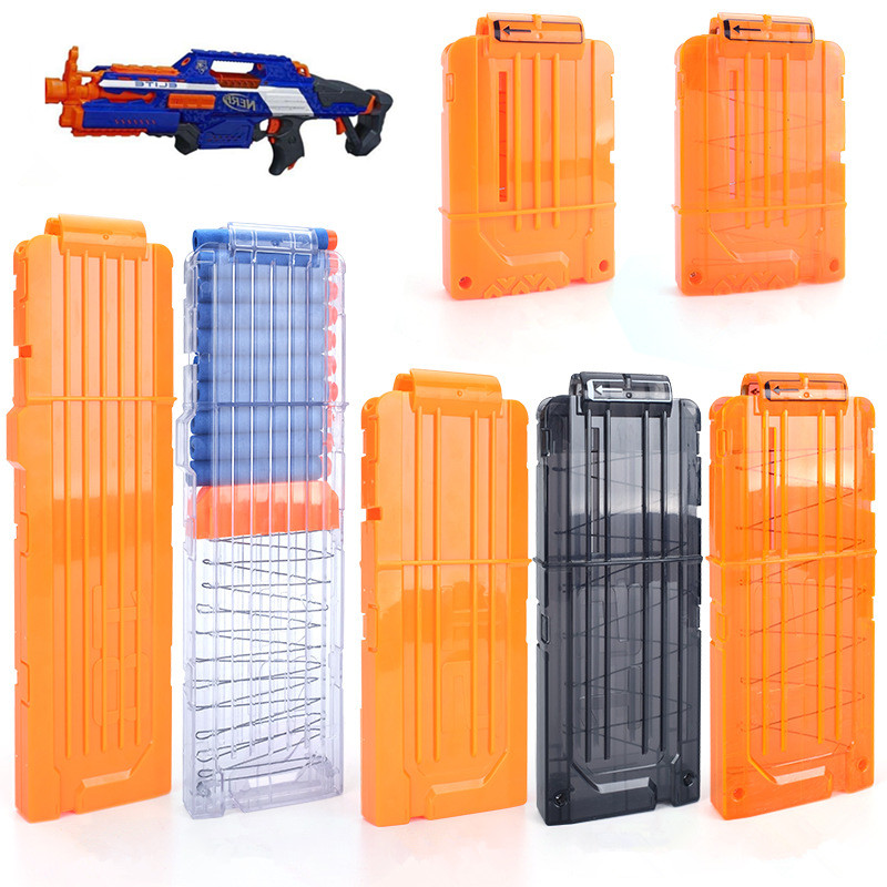 6-18 Orange Reload Clip For Nerf Magazine Round Darts Replacement Toy Gun Soft Bullet Clip For Nerf Blaster Arma De Brinquedo