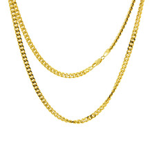 Men Jewelry Hip Hop Cuban Link Chain Necklace Hot Sale Gold/Silver Color 2mm 5mm Wide