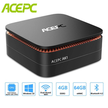 ACEPC AK1 Windows10 Mini Pc Intel Celeron Apollo  J3455 8GB DDR3L RAM 128GB SSD BT 4.2 Office HDMI WiFi4K USB3.0 Mini Desktop