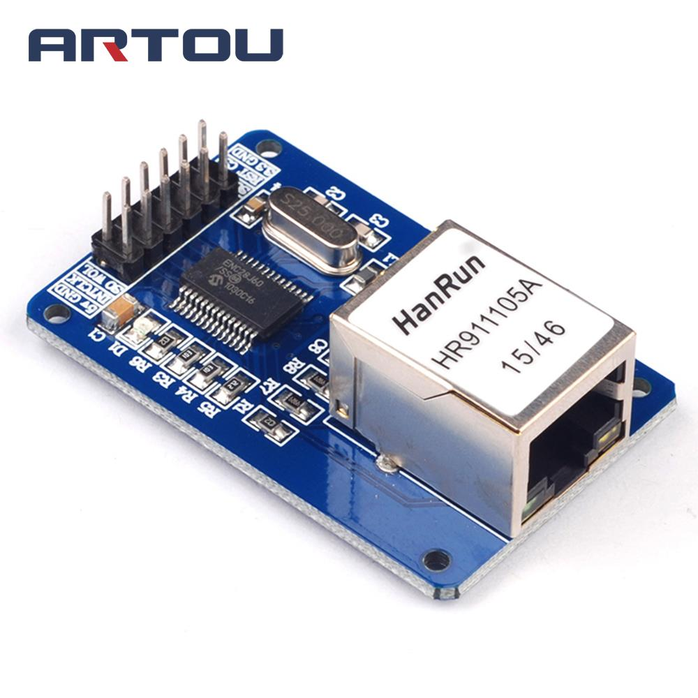 Mini ENC28J60 Ethernet <font><b>LAN</b></font> Network Module for <font><b>arduino</b></font> 51 AVR SPI PIC STM32 LPC Ethernet MCU development board supporting modules image