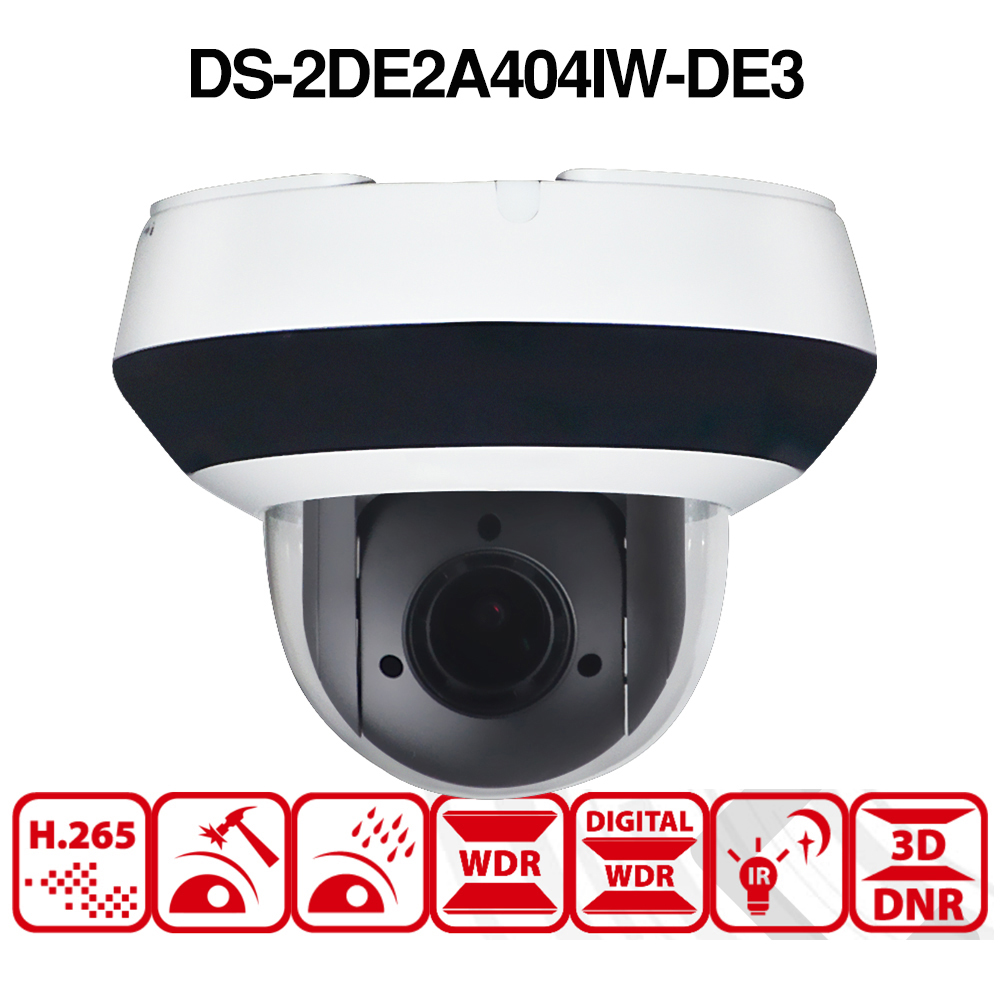 HIKVISION 4MP OEM 4X PTZ Optical DS-2DE2A404IW-DE3 Dome Zoom H.265 IP POE Camera
