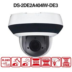 Image 4 - Hikvision оригинальная PTZ IP камера DS 2DE2A404IW DE3 4MP 4X Zoom сеть POE H.265 IK10 ROI WDR DNR купольная CCTV Камера