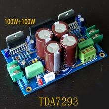 Домашняя Плата усилителя звука 100 Вт + 100 Вт 2,0, модель TDA7293, комплект платы усилителя мощности и готовая плата LM3886 одноранговая