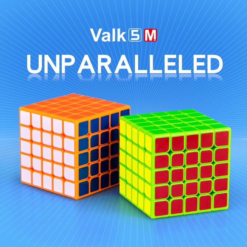 Mofangge Qiyi Valk5 M 5x5x5 Magnetic Magic Cube Stickerless Cubo Magico Valk5M Magentic Speed Puzzle Toys For Children