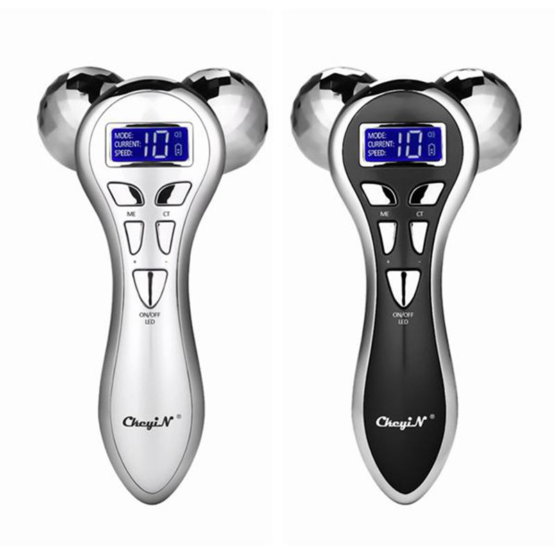4D Roller Massager Facial Rolling Device Y Shape Rotating Micro-current Vibrating Slimming Machine Body Skin Lifting Tighten 60