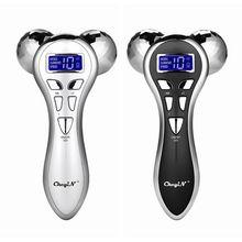 4D rulo masaj yüz haddeleme cihazı Y şekli döner mikro akım titreşimli zayıflama makinesi vücut cilt kaldırma sıkın 60