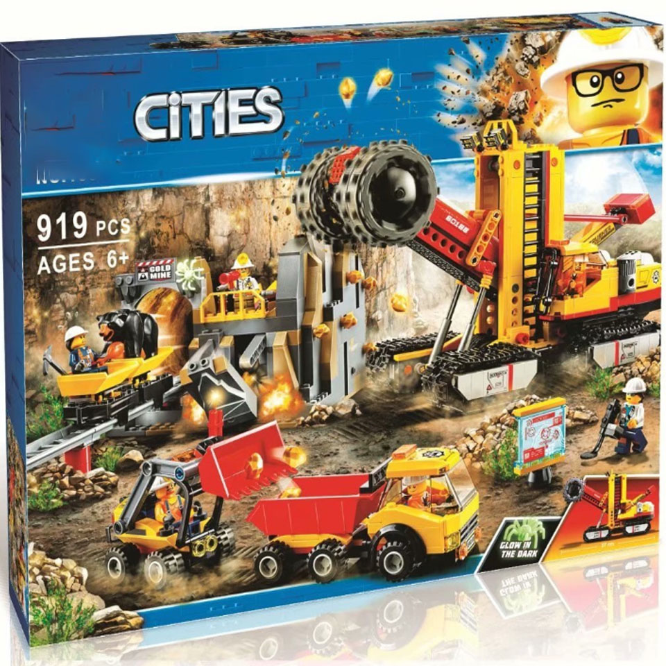 10876 919 Uds Compatible 60188 sitio de expertos en minería legoinglys City Mining Building Blocks juguetes modelo para niños como regalo Ciudad construcción vehículos barredora limpieza coche basura Trcuk bloques de construcción modelo niños juguetes regalos compatibles Legoinglys