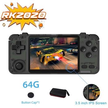 HOT RK2020 3.5 Inch IPS Sn Portable Handheld Retro Game Console Console Support 360 Degree Operation Built-in Game 64G