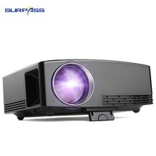 Home Media Portable Native Stereo Mini Projector Video Game TV Theater Use Outdoor Small LCD Digital Projector