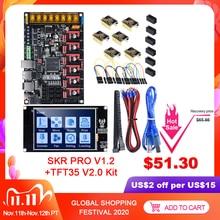 Bigtreetech Skr Pro V1.2 Besturingskaart TFT35 Touch Screen + 6Pcs TMC2209 TMC2208 Uart 3D Printer Onderdelen Vs Mks gen Skr V1.4 Turbo