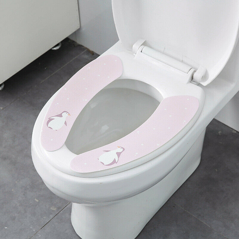 Bathroom Toilet Seat Closestool Washable Soft Warmer Mat Cover Pad Cushion LA
