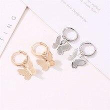 A Pair Women's Butterfly Earrings New Fashion Small Animal Earrings For Women Ea