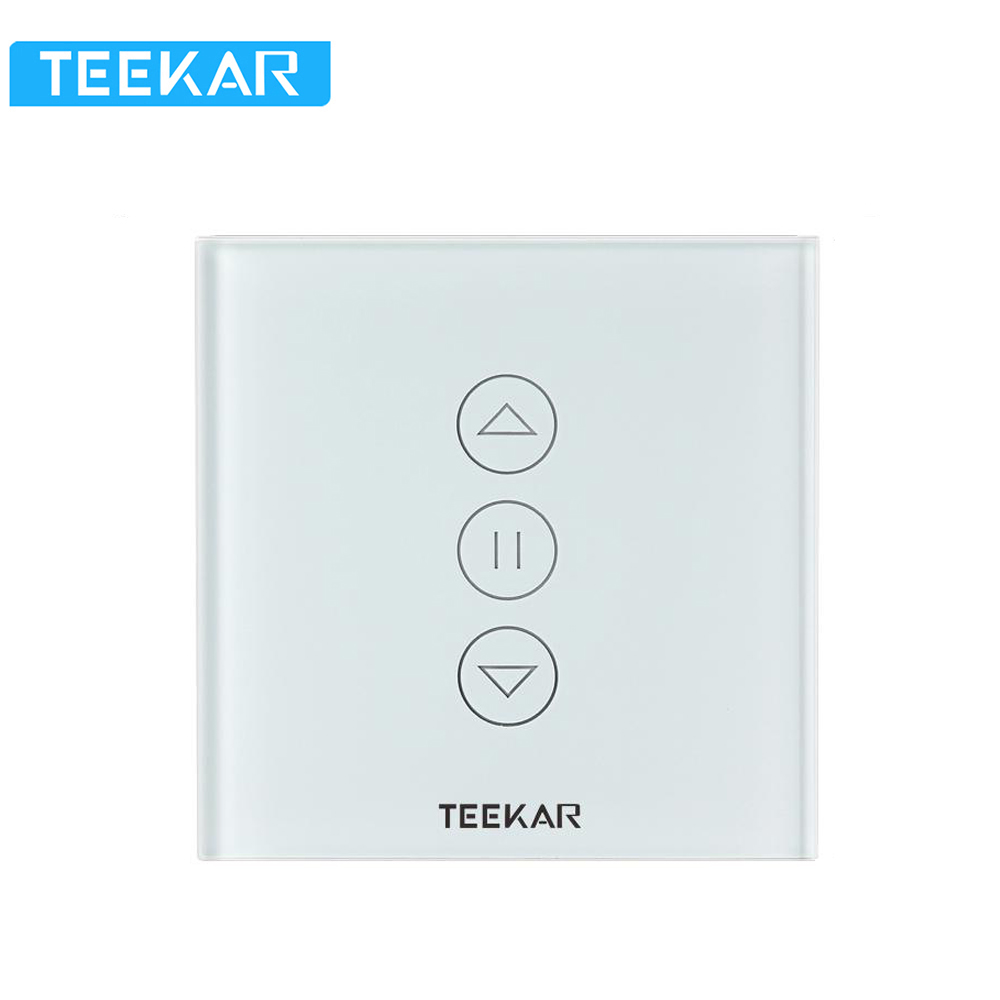 Teekar 3rd Gen Smart Curtain Switch Tuya EU Standard Electric Motorized Curtain Blind Roller Motor Work With Alexa Google Home