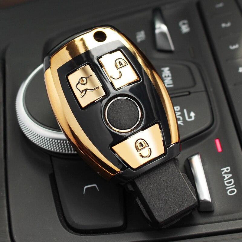ABS السيارات الجديدة التصميم مفتاح بعيد غطاء مفتاح سيارة غطاء لمرسيدس بنز C الفئة W205 GLC GLA C E G S GL CLS CLK G الفئة