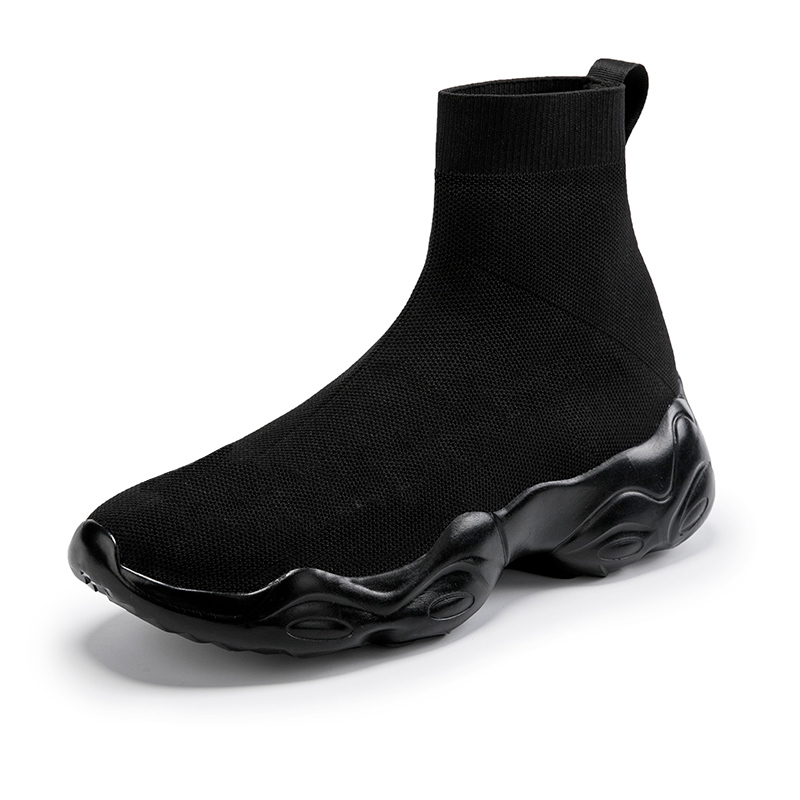High-top shoes men's Korean version of the trend of wild sports shoes tide shoes stretch father socks shoes couple models