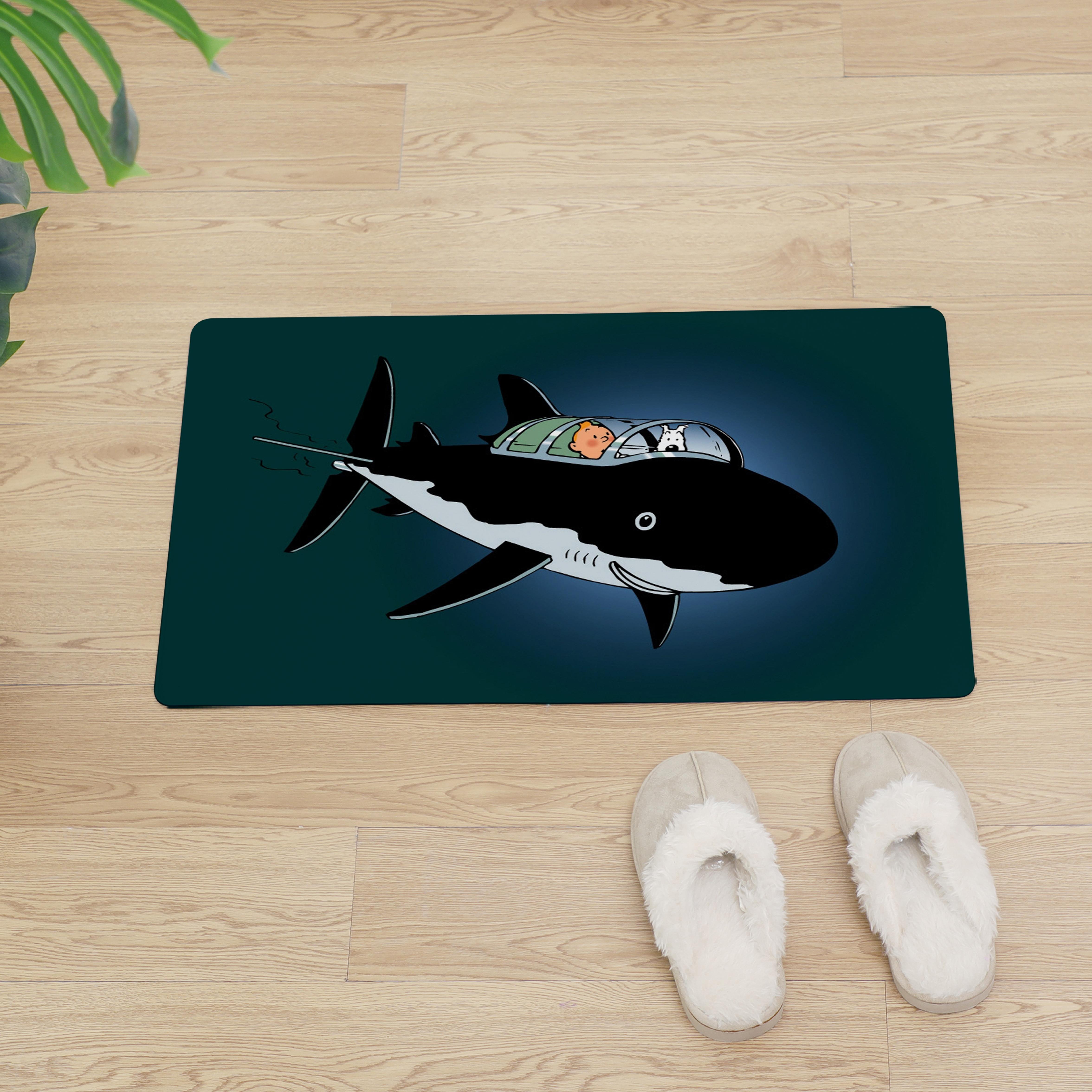 Cartoon Tintin Entrance Door Mat Anti slip Floor Mat Oil proof Kitchen Carpet Anime Doormat Easy