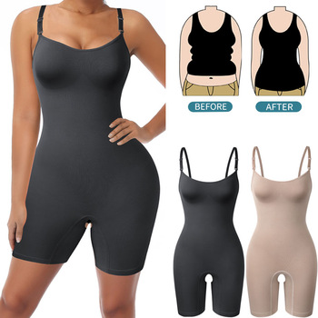 Bodysuit Shapewear Women Full Body Shaper Tummy Control Slimming Sheath Butt Lifter Push Up Thigh Slimmer Abdomen Shapers Corset