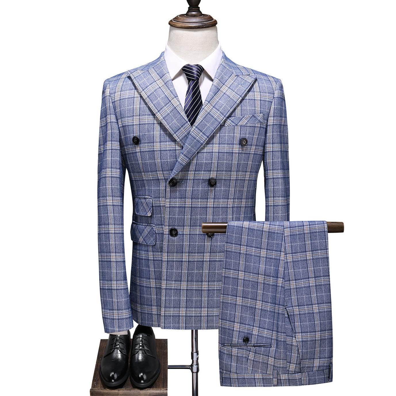 Wedding-Suit Suits Blazers Men Costume Slim-Fit Classic Business Male Mens Party Formal