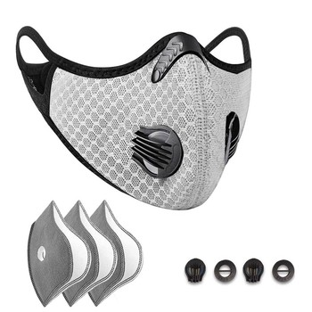 Unisex Breathable Mask Sport Face Mask Activated Carbon Filter Dust Mask PM 2.5 Anti-Pollution Running Training Cycling Mask 724