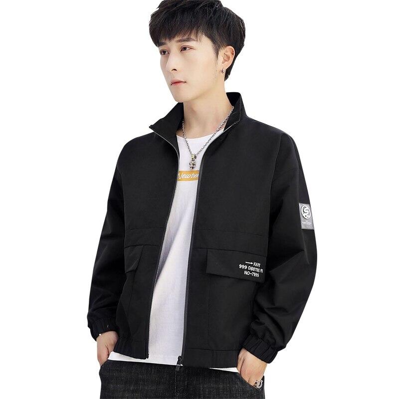 2020 New Flight Jacket Stand-up Collar Work Jacket Casual Jacket Spring Jacket Sport Solid Jacket Menswear Brand